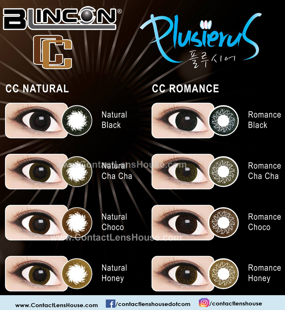 Blincon Cc Natural And Romance Color Lens Emphasizes On A