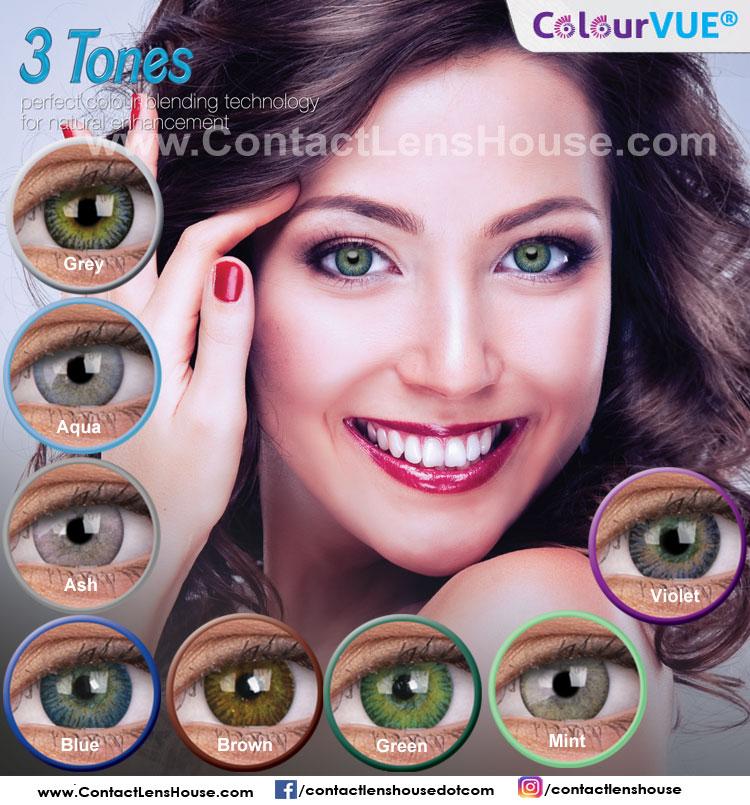 Colourvue 3 Tone Colour Lenses Contactlenshouse