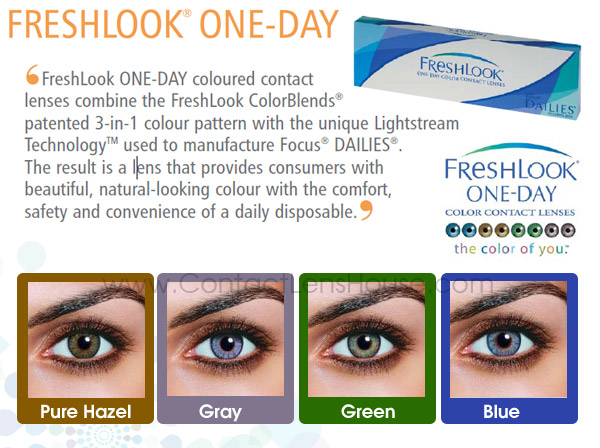 Freshlook One Day Color Contact Lenses Now Selling At A