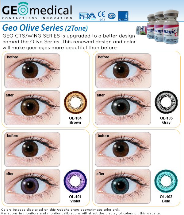 Geo Olive Series Contact Lenses At A Disounted Price At