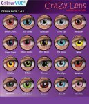 ColourVUE Crazy Lens Yearly 14mm