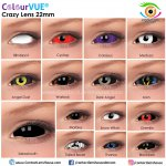 ColourVUE 22mm Sabretooth Crazy Lens