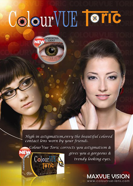 ColourVUE toric lens for Astigmatism