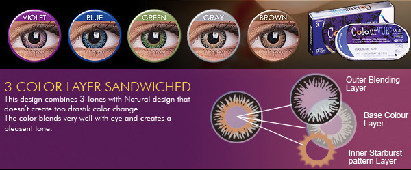 ColourVue 3 tones colored contact lenses