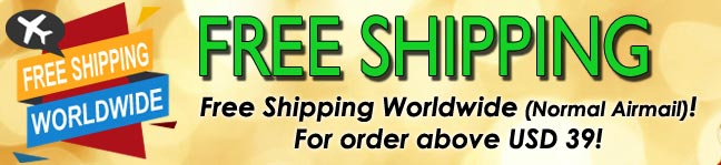 Free Shipping with order above USD39