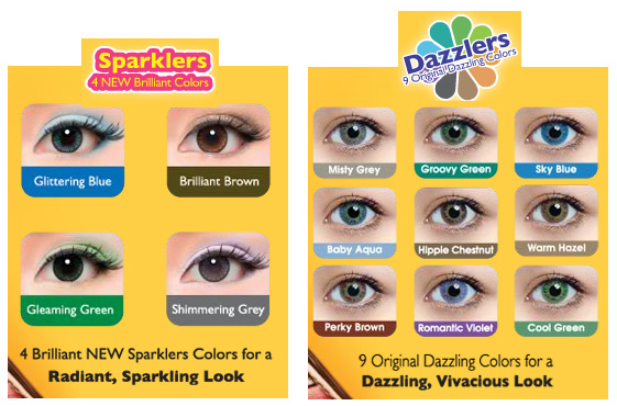 FreshKon Colors Fusion Sparklers and Dazzlers lenses